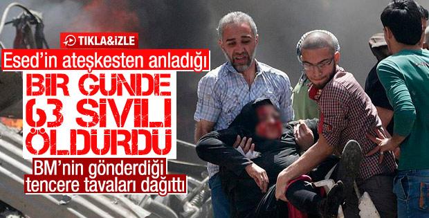 Suriye'de ateşkesin en kanlı günü: 63 ölü