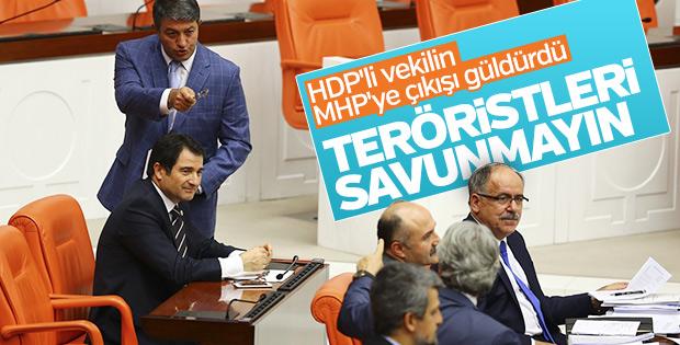 HDP'den MHP'ye 'teröristleri savunuyorsunuz' suçlaması