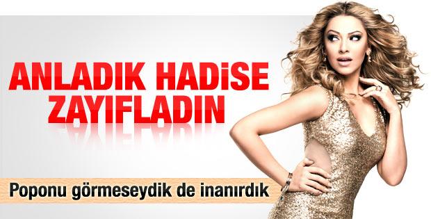 Hadise'nin Uludağ'da verdiği konserde poposu göründü