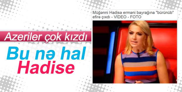Hadise'nin Azerileri kızdıran kıyafeti