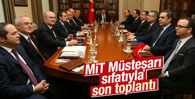 Hakan Fidan'ın MİT Müsteşarı olarak katıldığı son toplantı