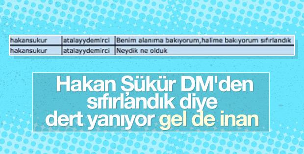 Hakan Şükür'den Atalay Demirci'ye: Beni kullanıp attılar