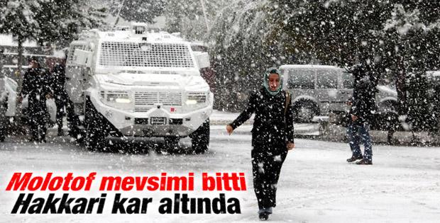 Hakkari'de yoğun kar yağışı ulaşımı olumsuz etkiledi