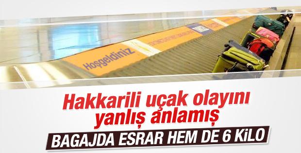 Yüksekova-İstanbul yolcu uçağında esrar bulundu