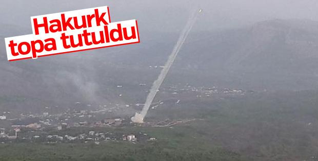 PKK'nın Hakurk kampı toplarla vuruldu