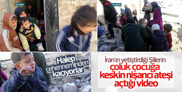 Şii milisler Halep'te çocuklara ateş ediyor