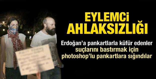 Halit Ergenç'i aşağılayan pankart photoshop çıktı