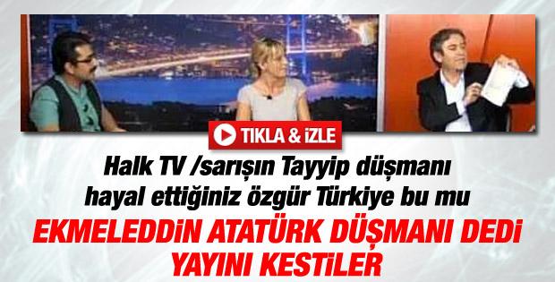 Ekmeleddin İhsanoğlu eleştirilince Halk TV yayını kesti