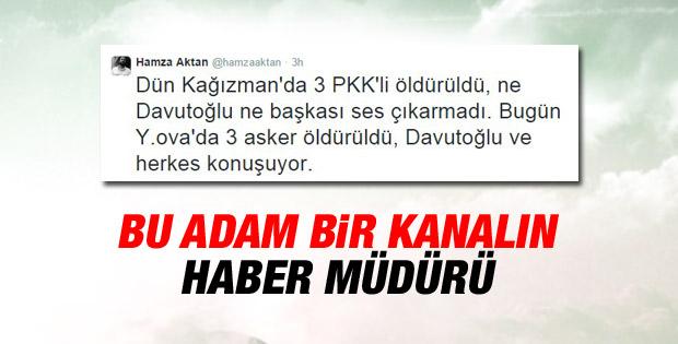 Hamza Aktan'dan tepki çeken şehit tweeti