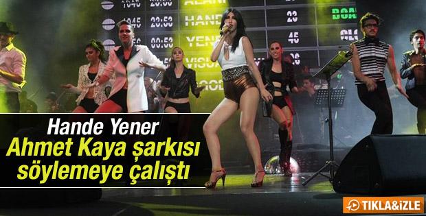 Hande Yener Ahmet Kaya şarkısı söyledi İZLE