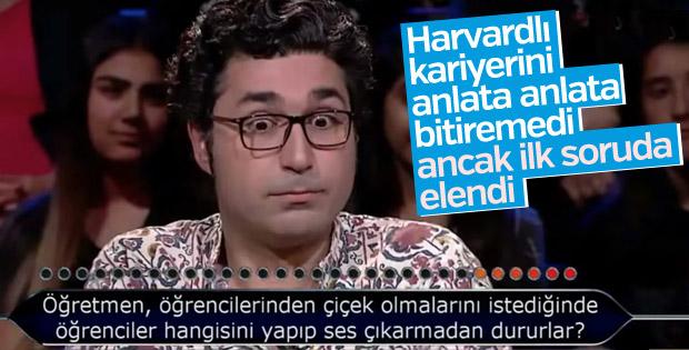 İlk soruda elenen Harvardlı akademisyen