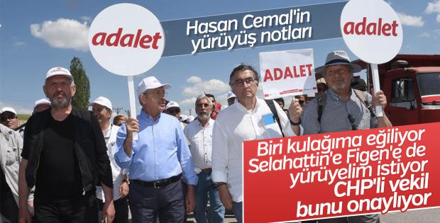 Hasan Cemal'in Adalet Yürüyüşü izlenimleri