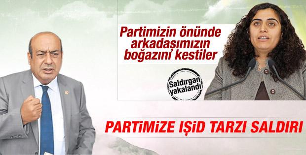 HDP Ankara il binası önünde bıçaklı saldırı İZLE
