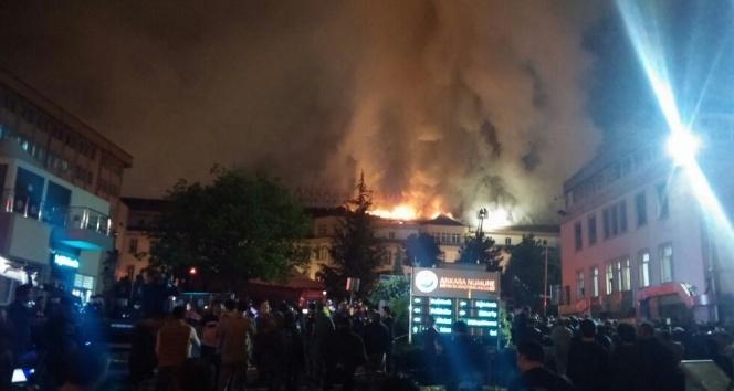 Ankara Numune Hastanesinde Yangın
