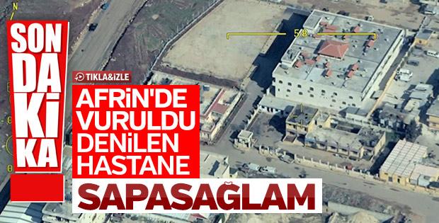 YPG'nin hastane vuruldu yalanını çürüten görüntüler