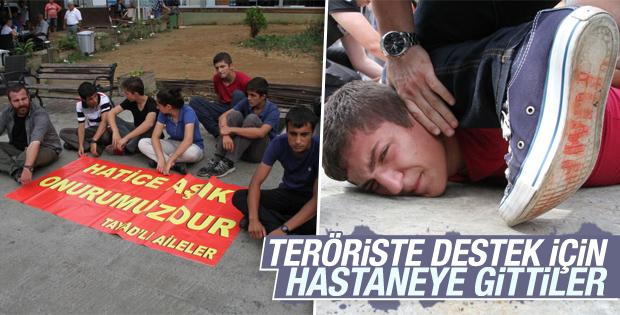 Teröriste destek için hastaneye gidenler gözaltında