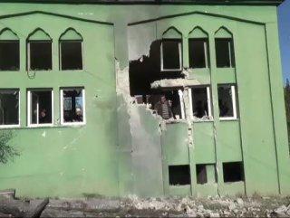 Hatay'da roket mermisi camiyi vurdu