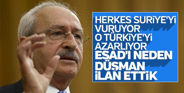 Kılıçdaroğlu, Türkiye'nin Suriye politikasını eleştirdi