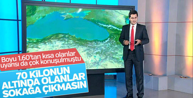 İstanbul'da fırtına: 70 kilonun altındakiler dikkat