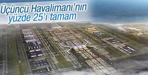 Üçüncü Havalimanı'nın yüzde 25'i tamamlandı