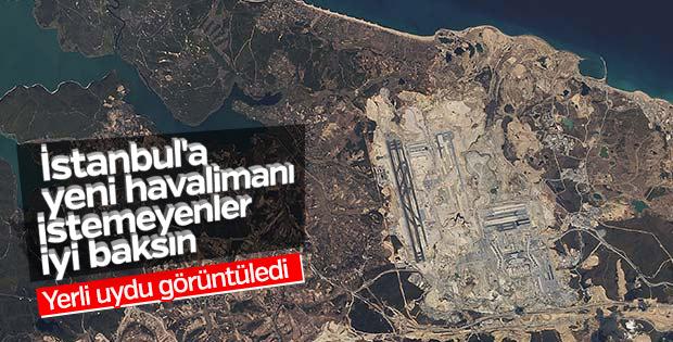Yerli uydudan 3. Havalimanı görüntüleri