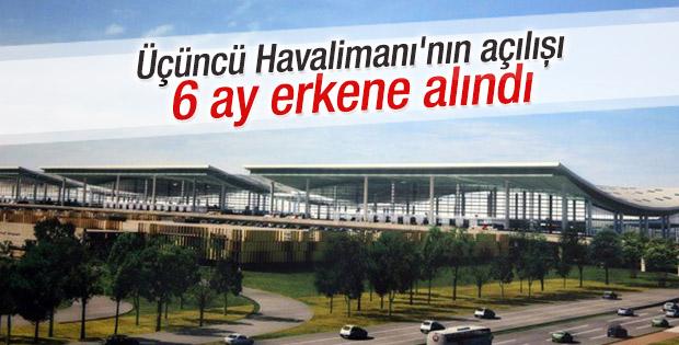 Üçüncü Havalimanı 6 ay önce bitebilir