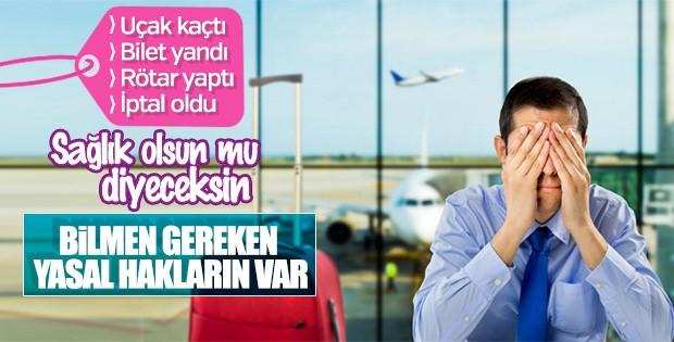Havayolu yolcularının bilmesi gereken yasal haklar