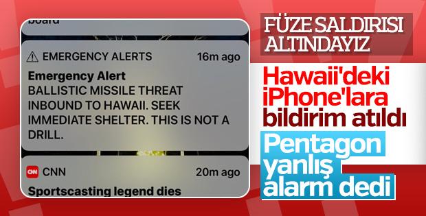 Hawaii'de yanlış füze alarmı