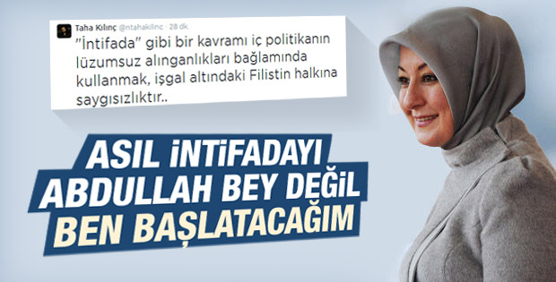 Hayrünnisa Gül: Asıl intifadayı ben başlatacağım
