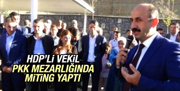 HDP'li vekilden PKK mezarlığına ziyaret