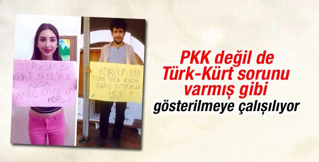 HDP'liler Türk-Kürt sorunu algısı yaratma peşinde