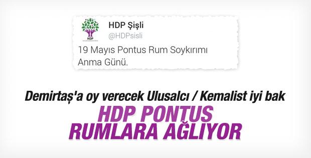 HDP'den Pontus Rum Soykırımı mesajı