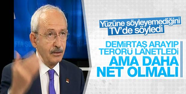 Kemal Kılıçdaroğlu'ndan HDP'ye terör eleştirisi