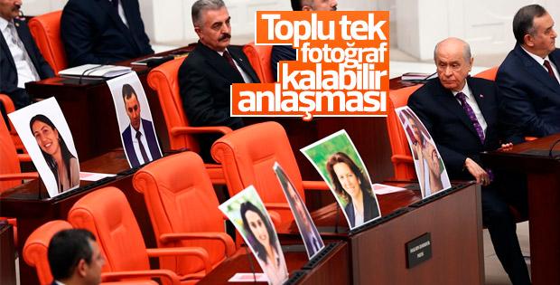 Meclis'teki tutuklu HDP'lilerin fotoğrafları kaldırıldı