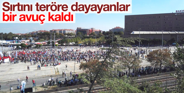 HDP'nin Bakırköy mitingine ilgi az oldu