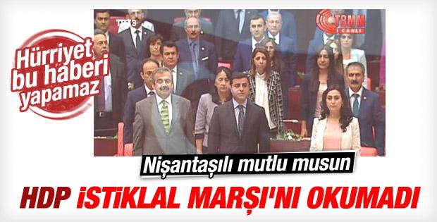 Meclis'te HDP'liler İstiklal Marşı'nı okumadı