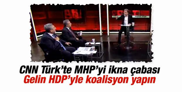 CNN Türk'te MHP'ye koalisyon baskısı