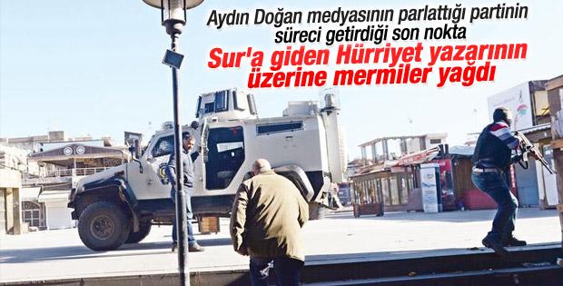 Hürriyet Sur'a girdi teröristler mermi yağdırdı
