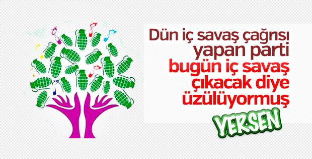 HDP iç savaş söylemini diline doladı