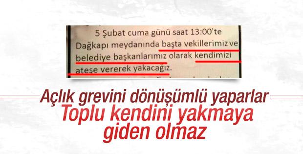 HDP'li vekiller Diyarbakır'da kendilerini yakacaklardı