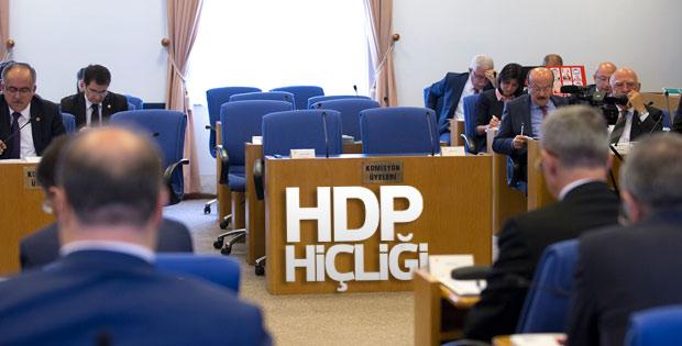 HDP'li milletvekilleri komisyon çalışmalarına katılmadı