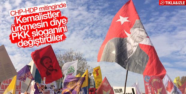 CHP-HDP ortak mitinginde terör sloganları