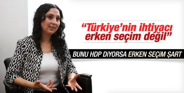 Figen Yüksekdağ'dan erken seçim açıklaması