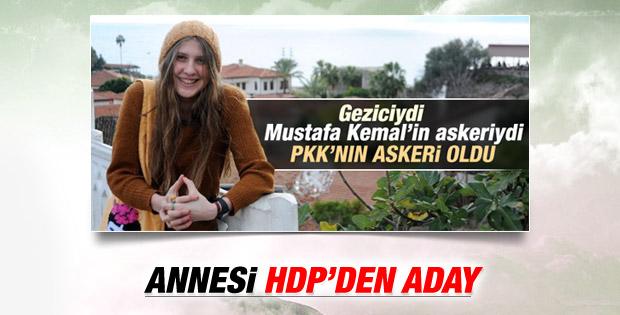 Kırmızı fularlı kızın annesi HDP'den aday adayı oldu