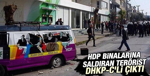 HDP binalarına saldıran teröristler DHKP-C'li çıktı