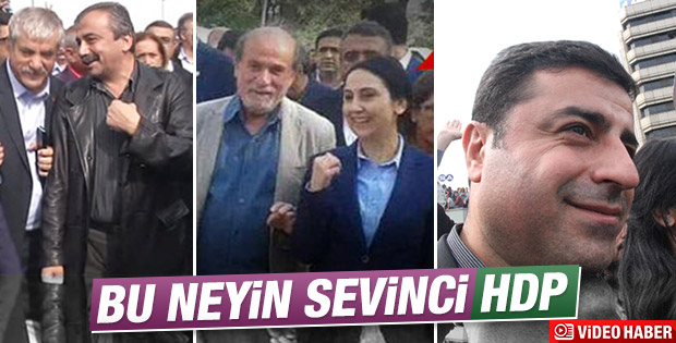 HDP'liler kahkaha atarken objektiflere yakalandı