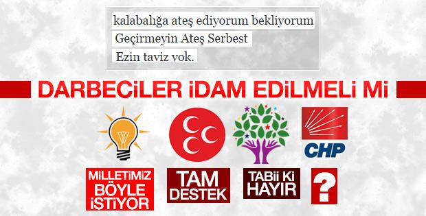 HDP: İdam cezasına destek vermeyeceğiz