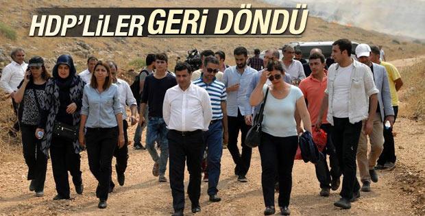 Cizre'ye giremeyen HDP heyeti İdil'e döndü