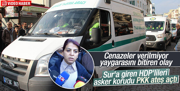 Cenaze almaya giden HDP'lilere PKK'lılar ateş açtı