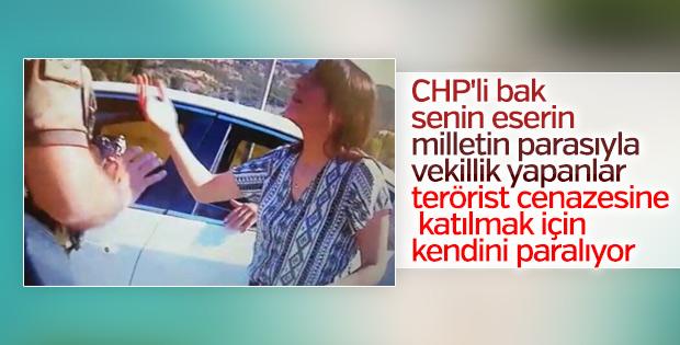 HDP'li Dağ terörist cenazesine katılmaya çalıştı